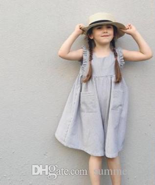 2018 Ins Children Dress 2018 Summer New Baby Girls Falbala Fly ...