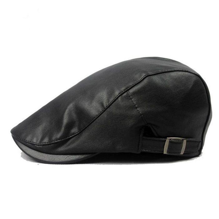 2019 Autumn Winter Leather Flat Cap Men Women Cabbie Hat Duckbill Boina  Berets From Chinaruitradealice1 47f3727695d