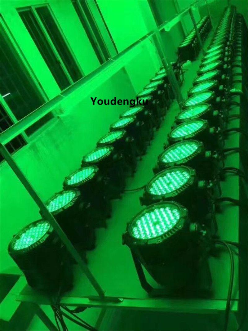 8 قطع ip65 الاسمية يمكن ضوء 54x3 واط rgbw 4-IN-1 للماء أدى par64 في الاسمية أدى 54x3 واط أضواء المرحلة