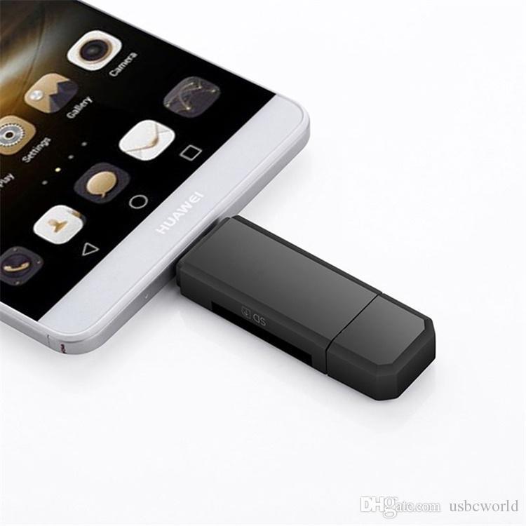 Multifuncional Leitor de Cartão OTG Micro SD Card Leitor USB Super Speed USB 2.0 HUB com Multi-em-1 2 Slots Leitor de Cartão