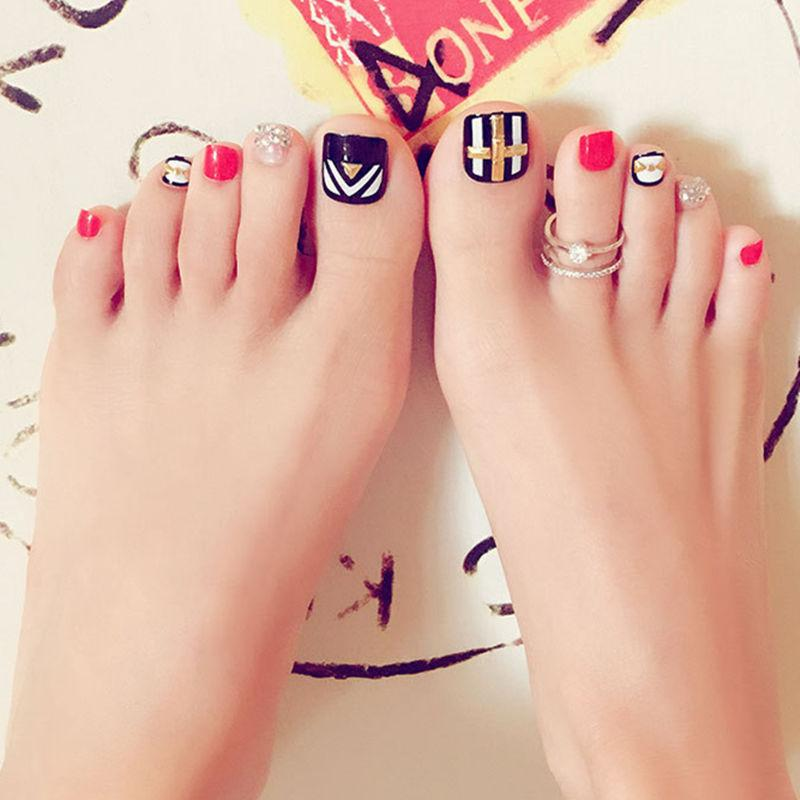 Artisan Pre Designed, Toenail Tips, Pack Of False Toe Nail Decals ...