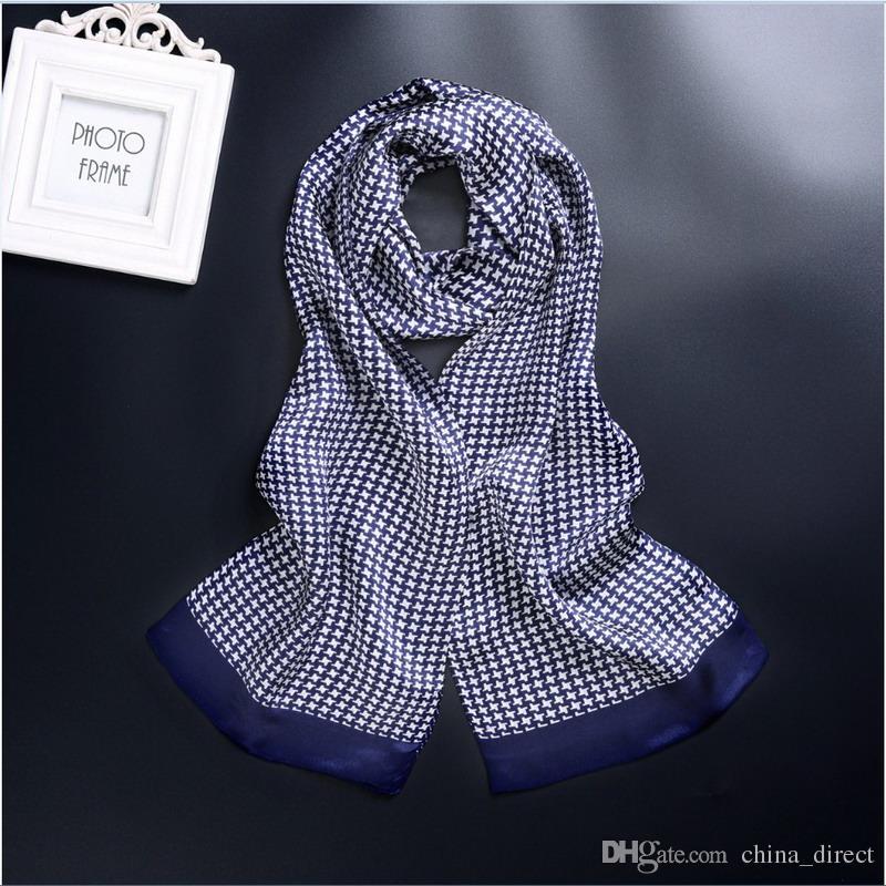 New Vintage 100% Seide Men Cravat Scarf Fashion Paisley Check Blumen Muster Print 2 Schicht dot Pure Silk Satin Halstücher 40 Farbe # 4055