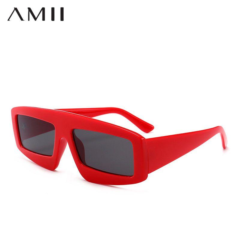 Compre AMII Nuevo Lindo Sexy Retro Cat Eye Sunglasses Mujeres Pequeño Negro  2018 Triángulo Vintage Gafas De Sol Baratas Para Hombres Rojo Hembra Uv400  A ... 2e7a68e5095c