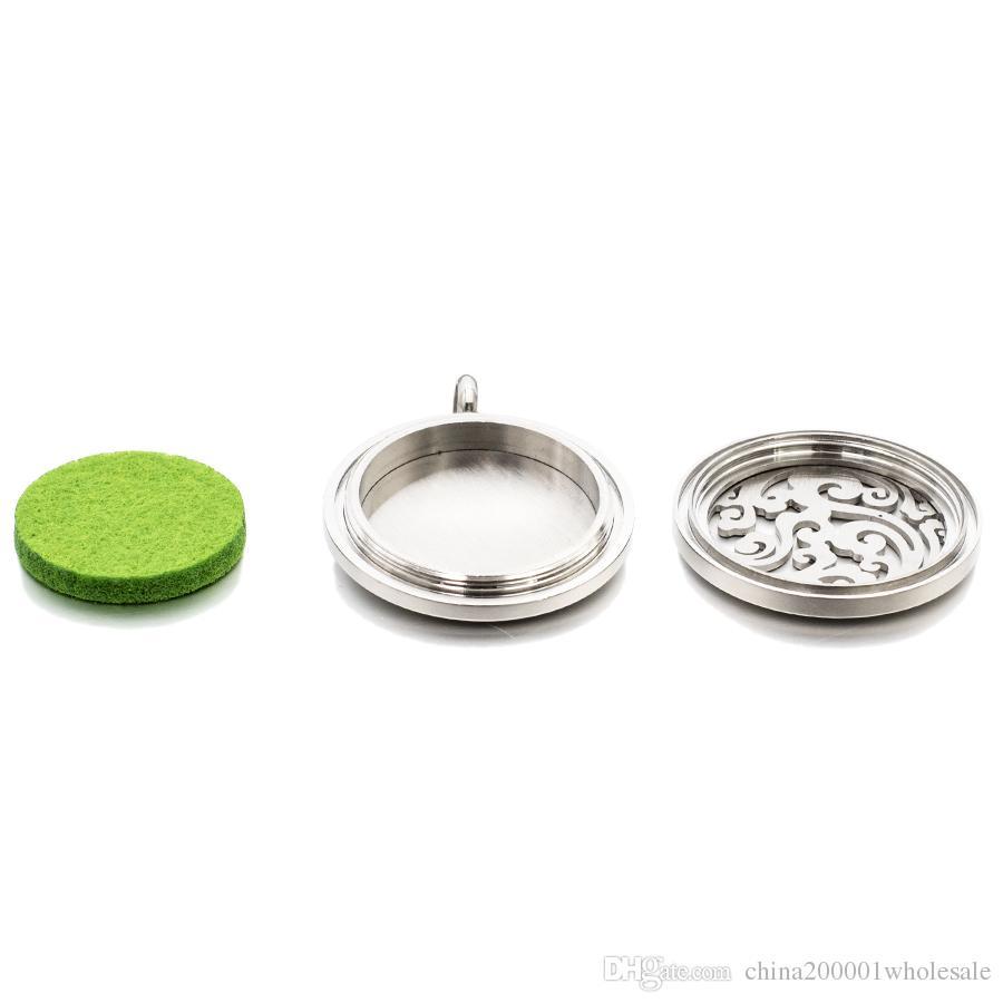 25mm Schmetterling Twist Screw Aromatherapie ätherisches Öl Medaillon 316L Edelstahl Parfüm Diffusor Medaillon fit für Halskette
