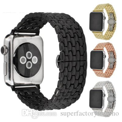 1PCS For Apple Watch Strap Stainless Steel Strap for iwatch Dragon Metal Strap 38mm 42mm