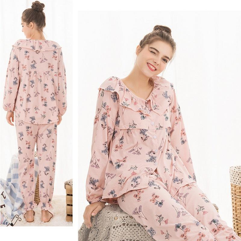 64d2f7413bbc3 2019 Maternity Nightwear Nursing Nightgown Europe And The United States  Spring Summer Breastfeeding Pajamas Pregnancy Sleepwear A289 From Cassial,  ...