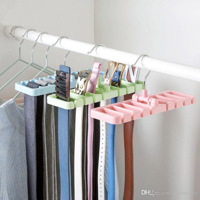 Bon 2018 Tie Belt Storage Rack Space Saving Rotating Scarf Ties Hanger Holder  Hook Closet Organization Tank Tops Bra Belts Bag Organizer From Homemilo,  ...