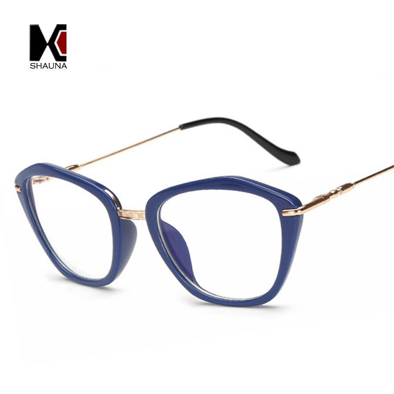 2f8bec9552 2019 2018 New Fashion Women Cat Eye Glasses Frame Vintage Clear Lens Blue  Rays Protection Elegant Reading Glasses From Shaunaglasses