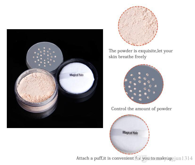 Smooth Loose Powder Makeup Transparent Finishing Powder Waterproof Cosmetic Puff For Face Finish Setting With Puff