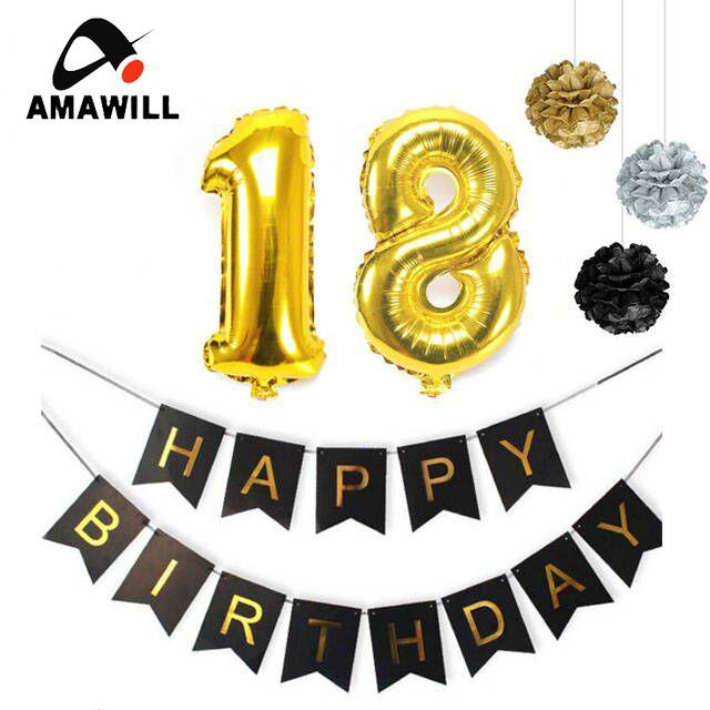 Grosshandel Grosshandel 18 Geburtstag Party Dekoration Jubilaum Thema