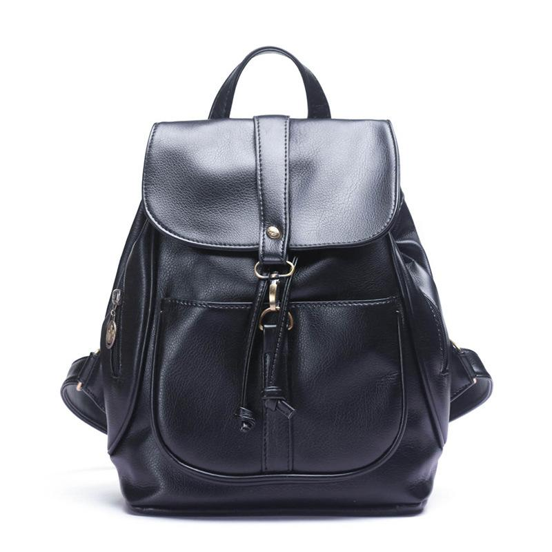 Cheap Discount Vintage Leather Backpack Women Fashion Large ...