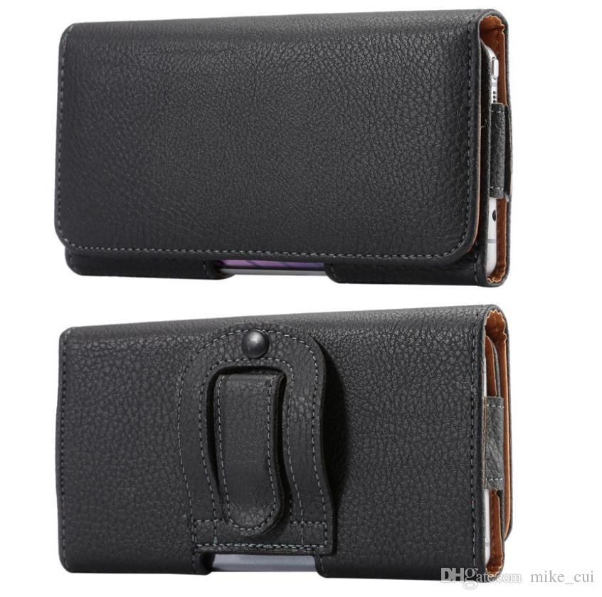 huge discount e321a 59abf Universal 4.7~6.4 inch Men Waist Packs Phone Pouch Bags Hook Loop Belt Clip  Case Waist Bag Litchi Grain Mobile Phone Bags