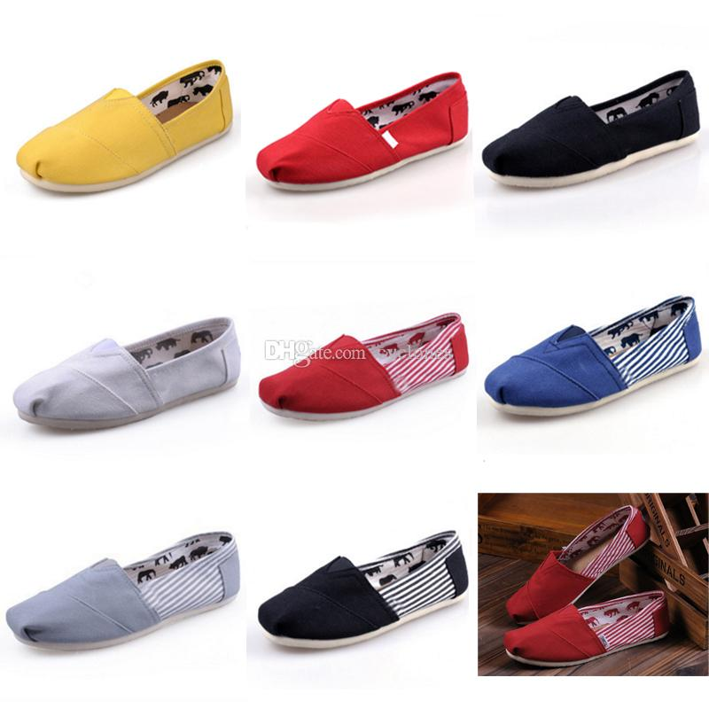 e40cbc4450e6 2019 Toms Slip On Women Men Canvas Shoes Flats Loafers Casual Single Shoe  Solid Sneakers Driving Shoes Unisex Tom Espadrille Walking Shoe From  Cyclones