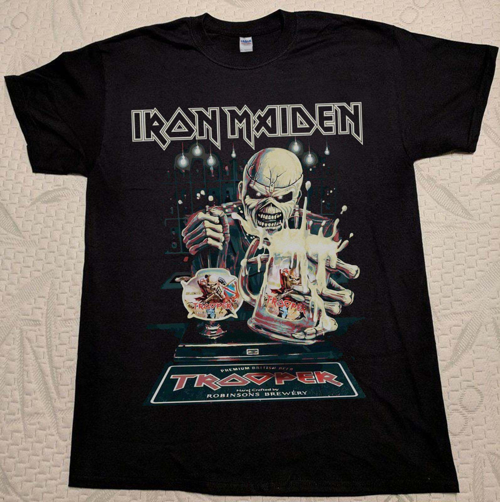 44beac05a HOT Good Iron Maiden The Trooper Beer T Shirt Black Book Of Souls Tour 2017  Best And T Shirt T Shirt Makes From Shop4yoo, $11.01  DHgate.Com