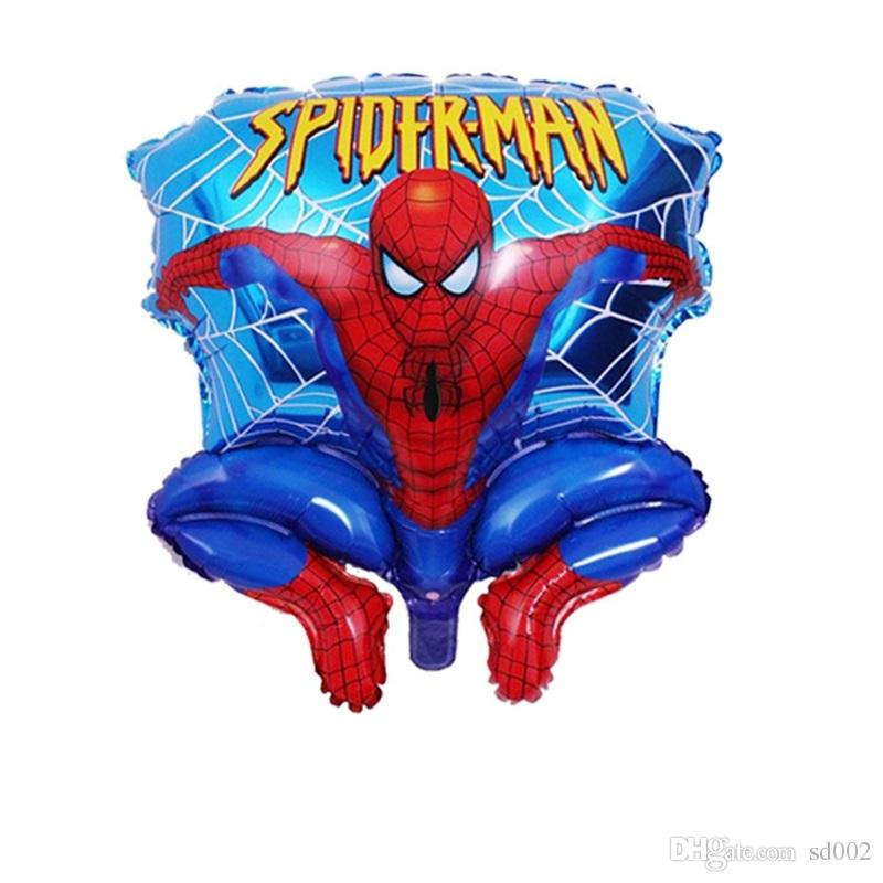 Birthday Party Decorations Balloon Large Number Cartoon Spider Man Shape Air Balloons Aluminum Film Scene Arrangement Supplies 1 7bl Jj