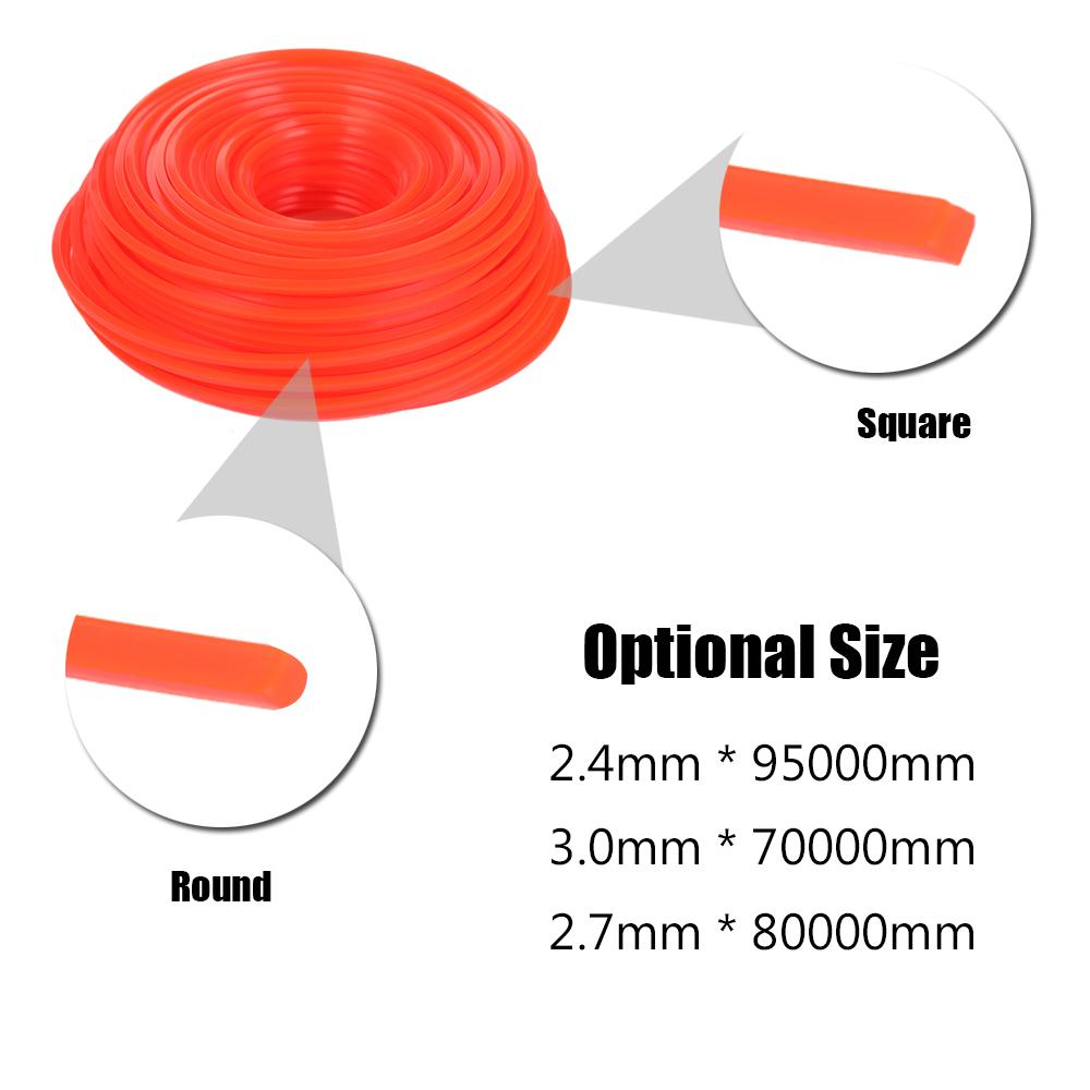 Professional Fine Quality Mowing Nylon Trimmer Rope Brush Cutter Strimmer Line Mowing Wire Lawn Mower Accessory