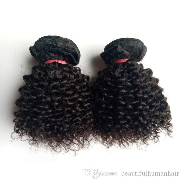 Beautiful Christmas hair weft Brazilian European Virgin Human Hair Kinky Curly 8-12inch sexy Indian Mongolian remy Hair extensions