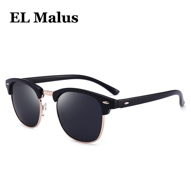 62f0ce9853 EL MalusPolarized Round Frame Sunglasses Men Male Gray Yellow Silver Red Night  Vision Lens Mirror Retro Designer Sun Glasses Mens Sunglasses Police ...