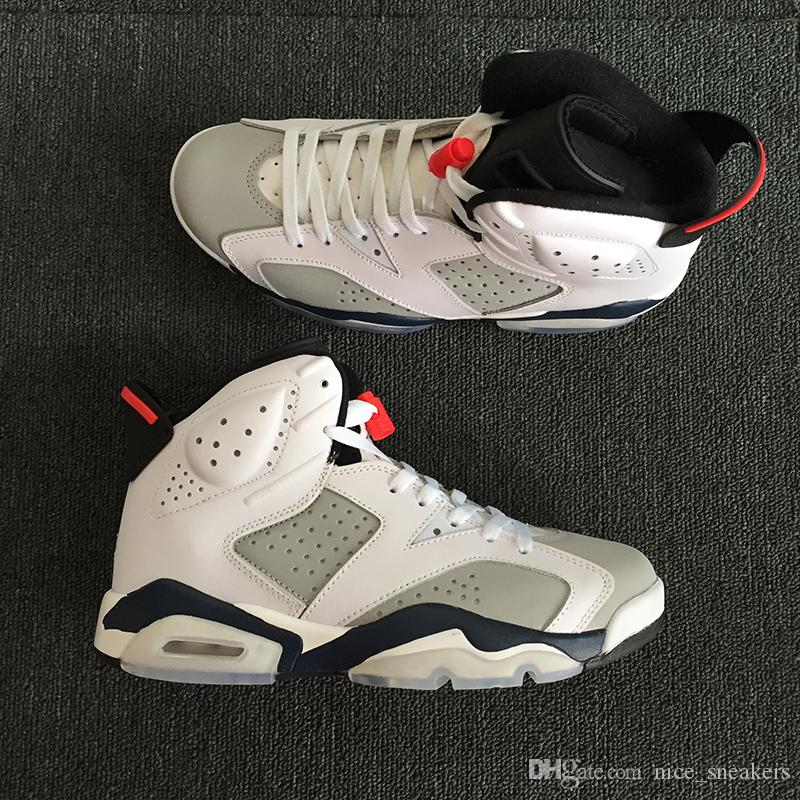 low price fee shipping for sale Tinker Trainer 6 VI Mens Basketball Shoes White Blue Grey for 6S Men Brand Designer Sports Sneakers US Size 8-13 clearance visa payment cheap sale professional UyowU