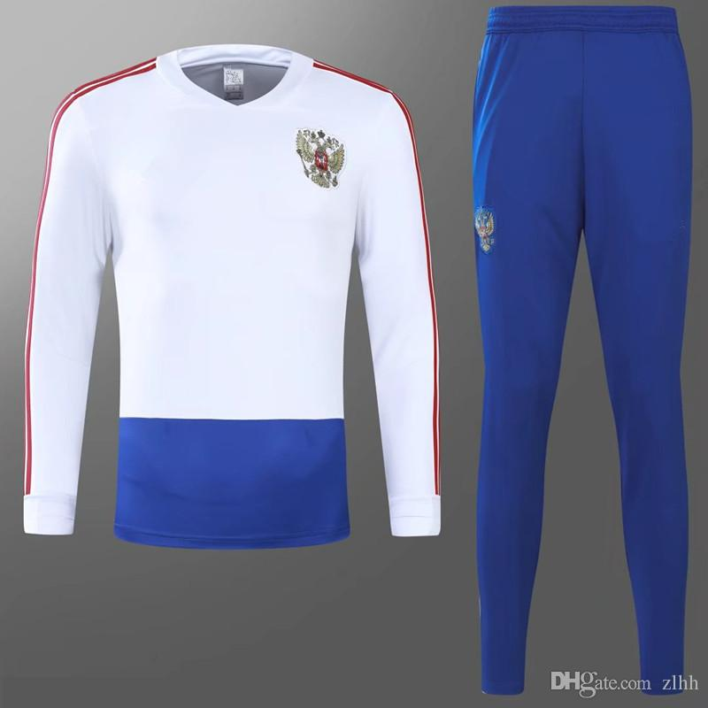 362dacfee 2019 2018 World Cup National Team Russia Soccer Jacket With Pants Soccer  Jogging Training Tracksuit Russia Survetement Football Training Kits From  Zlhh