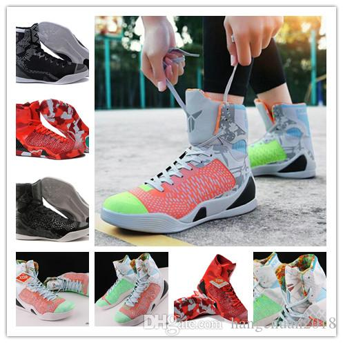 bc7a683b56d2 ... coupon for 2018 mens kobe 9 high weaving bhm easter christmas  basketball shoes red black kb sale prendere sconto nike ...