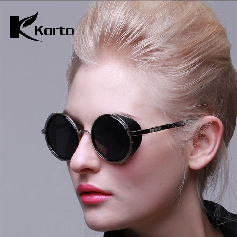 dd8e4f74eb Compre Lentes Circulares Gafas De Sol Redondas Para Mujer 90S Steampunk  Moda Anteojos Negros Espejo De Alta Calidad Shades Retro Gótico Hombres  Gafas A ...