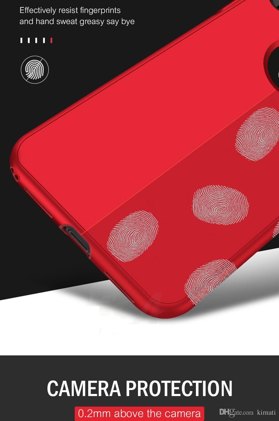 360 grados de protección ultrafina de cuerpo completo Fundas de silicona blanda TPU para iPhone X 6 6s 7 7plus 8 8 Plus Funda trasera