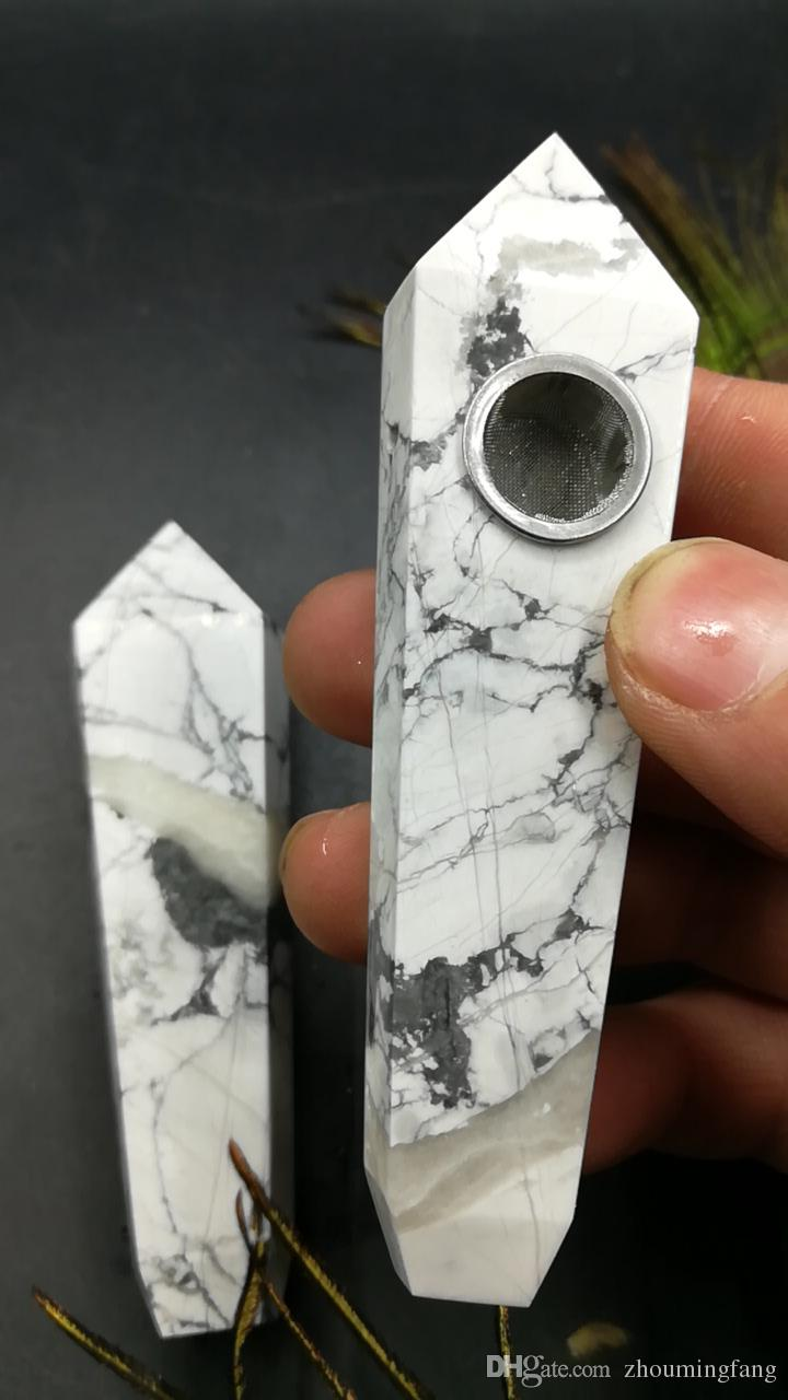 of natural crystal white turquoise pipe wands with filters added to their body are good for sale.