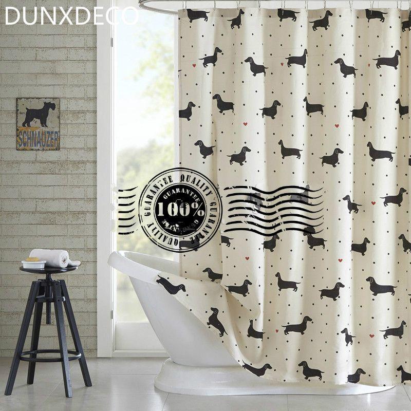 2018 Dunxdeco Shower Curtain Bathroom Waterproof Cortinas Fashion ...