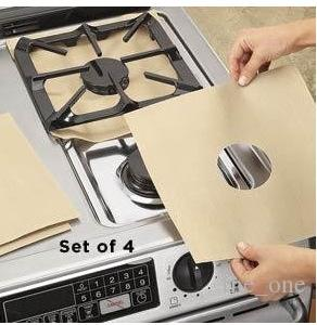 Environment Aluminum Foil Gas Stove Burner Cover Remove Surface Oil Stains Anti Sticky Clean Pad Resistant High Temperature