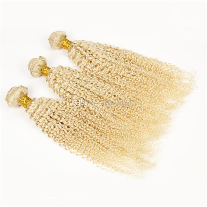 Kinky Curly Blonde Virgin Hair Kinky Curly Blonde Hair Brazilian Virgin Human Hair Extension Hot Sale Cheap Price