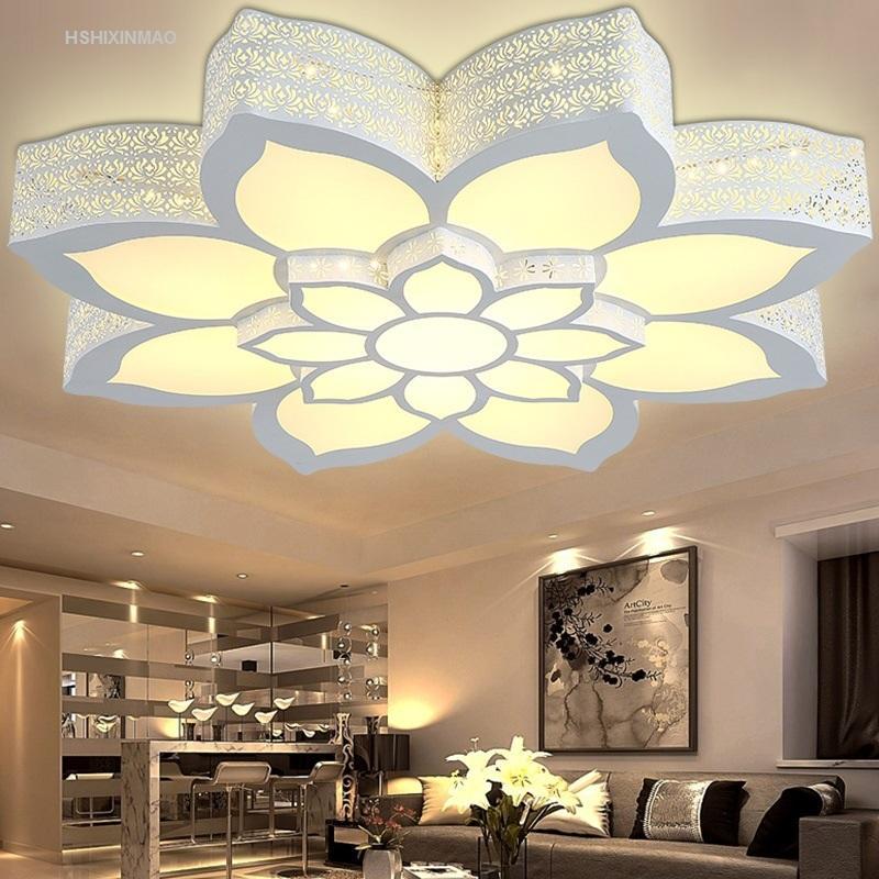 Amazing Großhandel LED Lotus Blume Form Deckenleuchte Wohnzimmer Schlafzimmer  Studie Lampe Kommerziellen Büroraum Deckenleuchten AC110 240V Von Jigsaw,  ...
