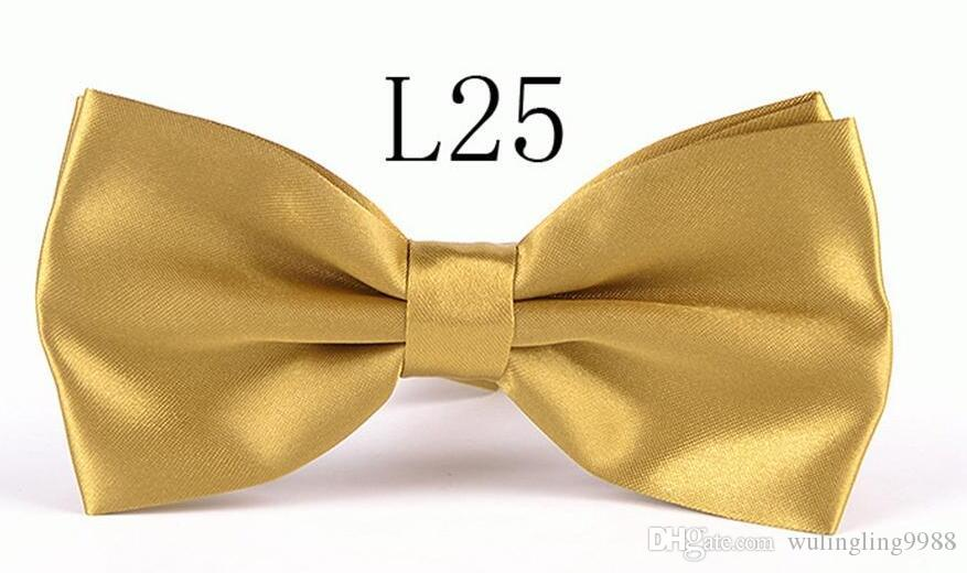 Hombres Solid Bow Lazs Gentleman Butterfly Body Fiesta Bowtie Bowtie Bow Tie Ajustable Business Lazos es