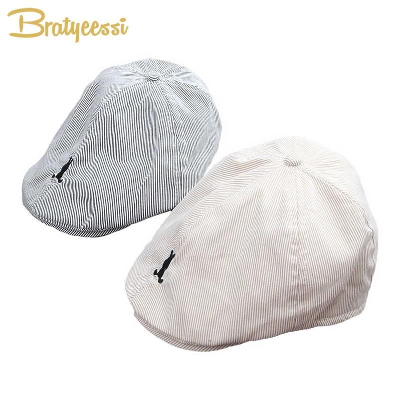 8aa2e4109922 2019 New Cotton Baby Boy Beret Hat Handsome Striped Cap Baby Boy  Accessories For 1 3 Years From Vanilla14, $27.63 | DHgate.Com