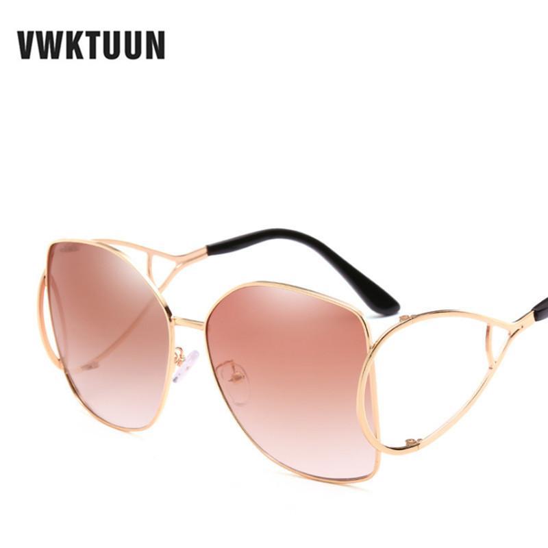 eafaba6024 Compre Vwktuun Gafas De Sol Steampunk Gafas De Lentes Transparentes De Gran  Tamaño Gafas Cuadradas De La Vendimia Hombres Mujeres Marca De Lujo  Diseñador ...