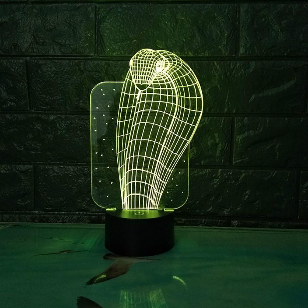 Changer Lampe Table En Gros 3d Cobra Télécommande 7 Dropshipping Usb Cadeau De L'enfant Led Night Mystérieux Couleurs Light Décorative JKF13lcT
