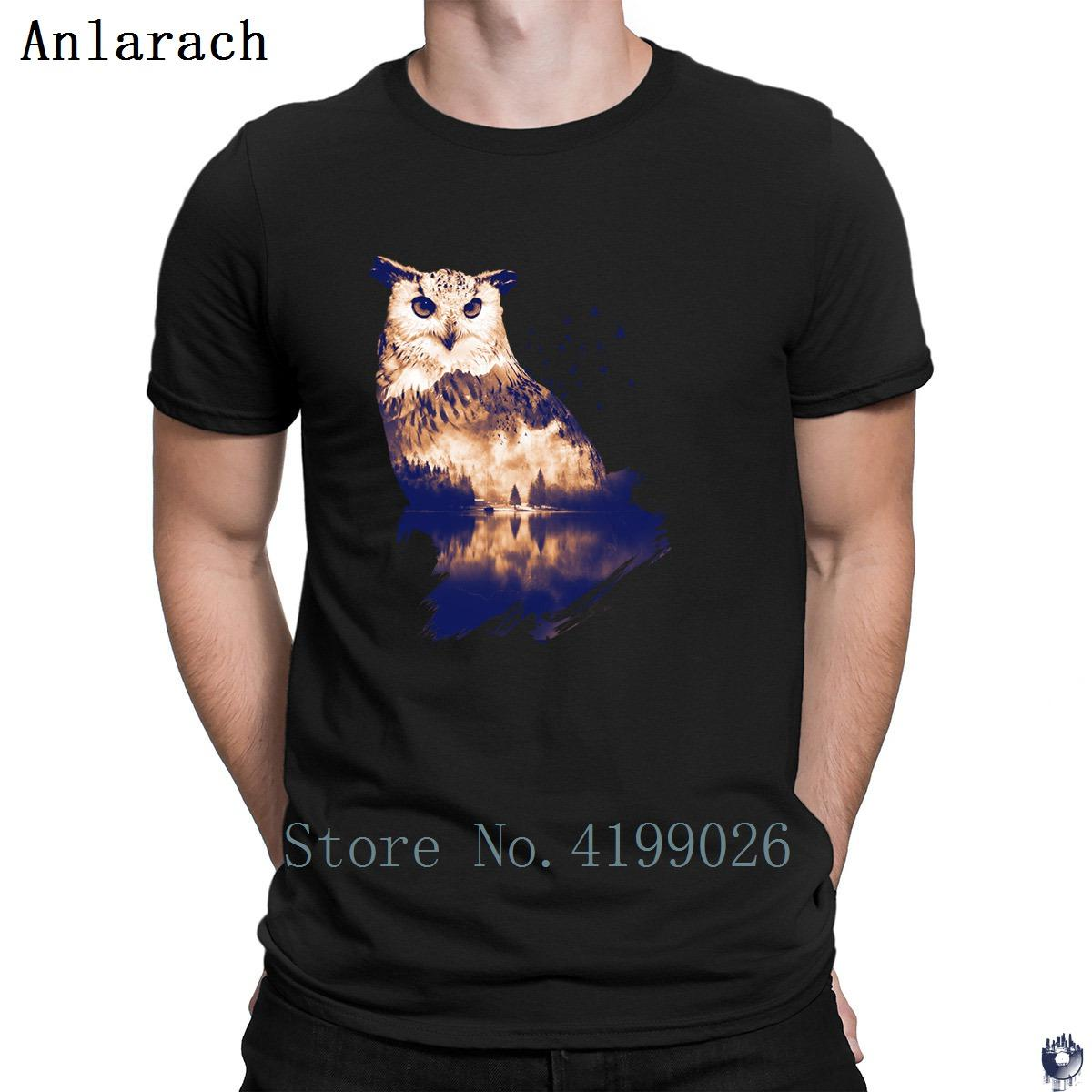 57dc33c2 Forest Owl T Shirt Round Collar Unique Design Summer Top Men'S Tshirt  Hilarious Summer Style Streetwear New Style Super Cool T Shirts And T Shirts  From ...