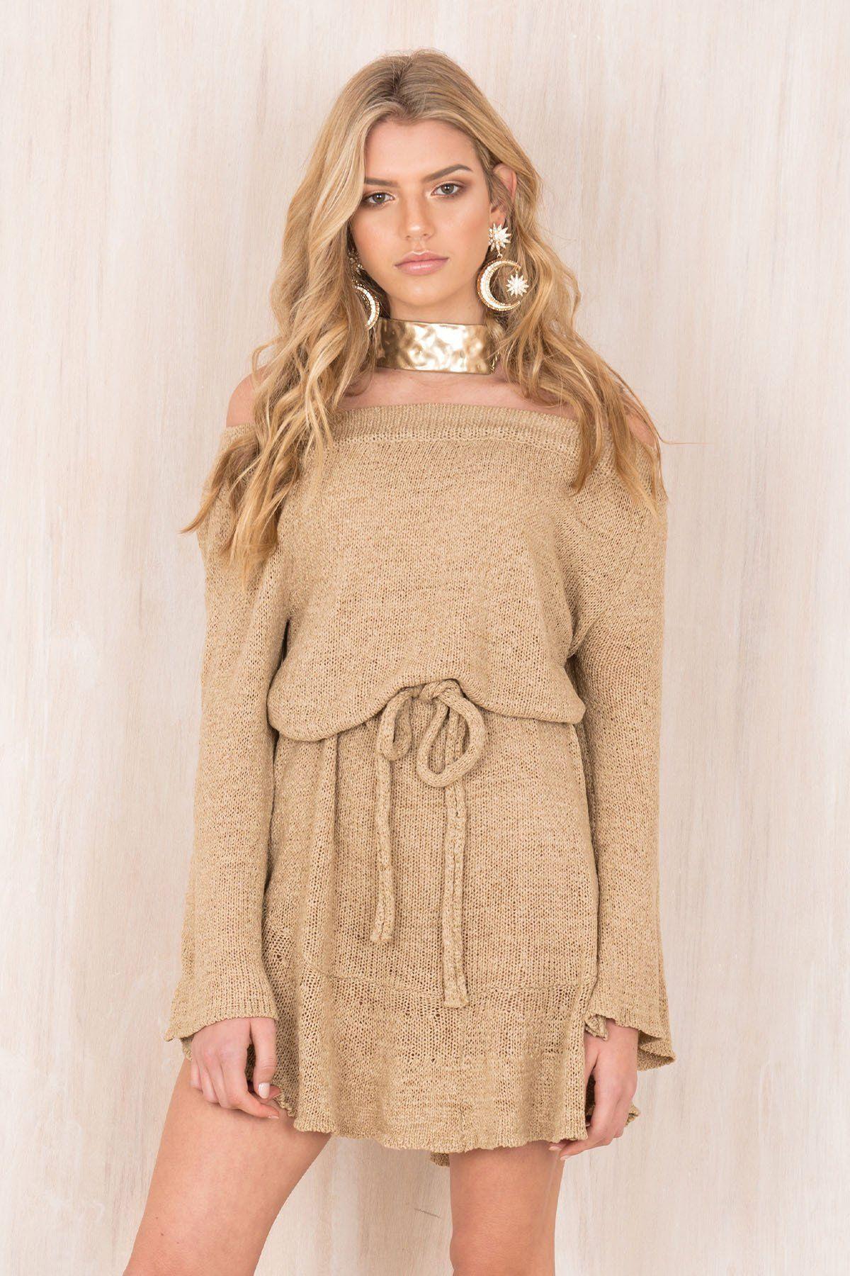 2018 Winter explosion thicken sexy word shoulder sweater dress skirt skirt