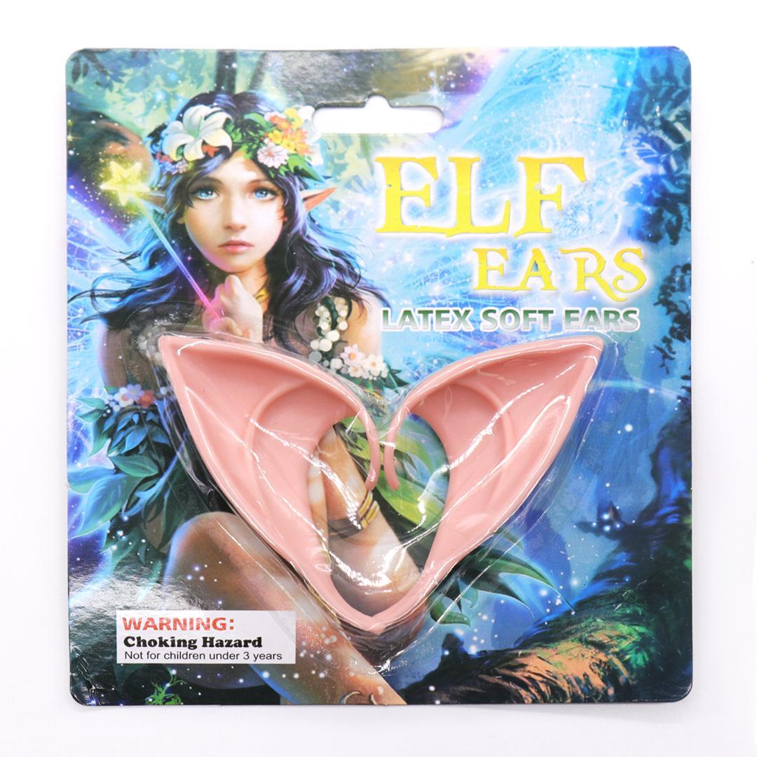 halloween elf mask party props fairies ear cos fake ears with elf