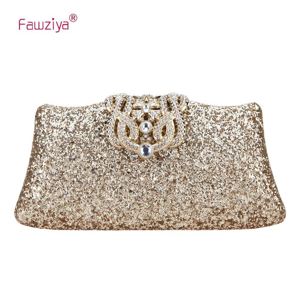 5d0465b25929 Fawziya Glitter Evening Bag Bling Crown Clutch Purses For Women