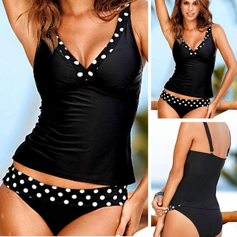 b76aa88675 2019 Plus Size Womens Beach Monokini Bandage Swimwear Push Up Padded Bra  Bikini Set Tankini Swimsuit Bathing Beachwear From Lin and zhang