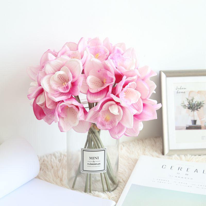 Grosshandel 31 Cm Pu Orchideen Blume Kunstliche Hochzeit Bouquets