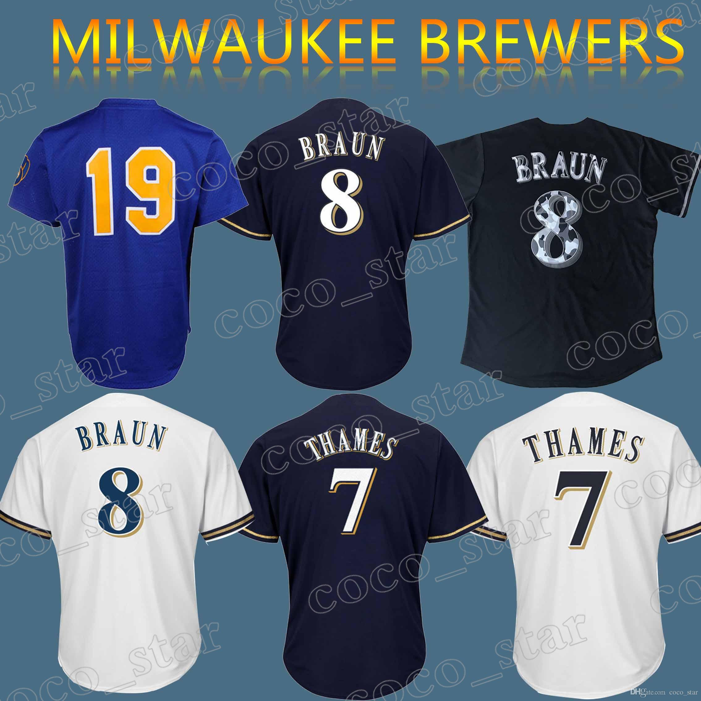 sports shoes 591bc 0a47f new arrivals milwaukee brewers jersey font 4595c bba6d
