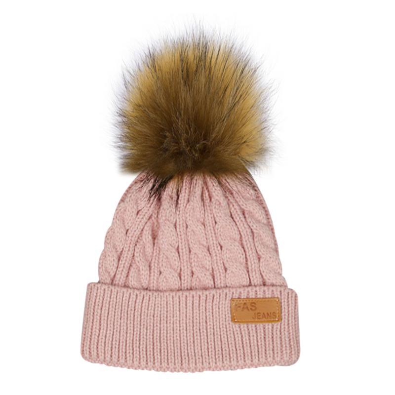 Acheter Mode Enfants Chapeau D hiver Tricoté Crochet Bonnets Cap Pompon  Chapeaux Épais Bébé Skullies Bébé Fille D hiver Chaud Chapeaux Bonnet Enfant  De ... 60cb76319e1