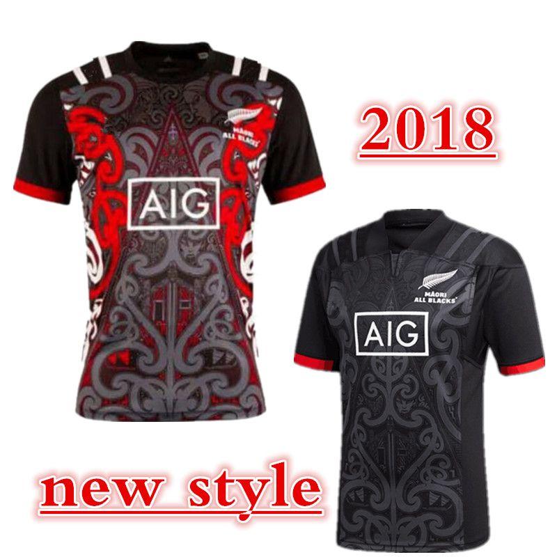 f11b2a4a6 Compre 2018 2019 Maori All Blacks Jersey 2018 Todo Negro 2018 Casa Lejos  Los Hombres Rojos Camisetas De Rugby NZ Blacks Maori 100 Años Edición  Especial ...