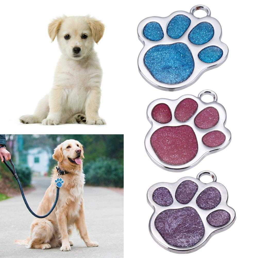 2018 glitter custom pet dog tag personalized engraved feet card dogs