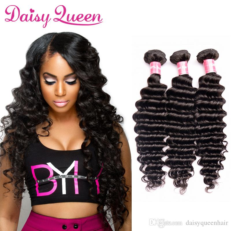 Deep Wave Indian Remy Human Hair Extensions 8a Unprocessed Indian