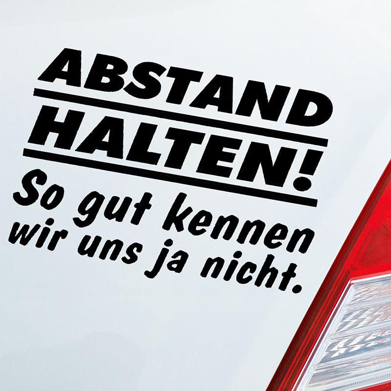 Auto Aufkleber Abstand Halten Car Tuning Sticker Fun Spruch Jdm Interesting Fashion Sticker Decals