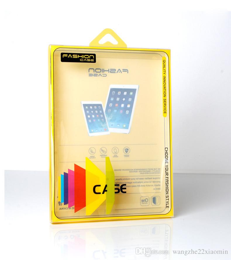 Custom Company Logo Retail PVC Packaging Box for 9 inches Tablet Pad Mini Clear Package with Hang Hole