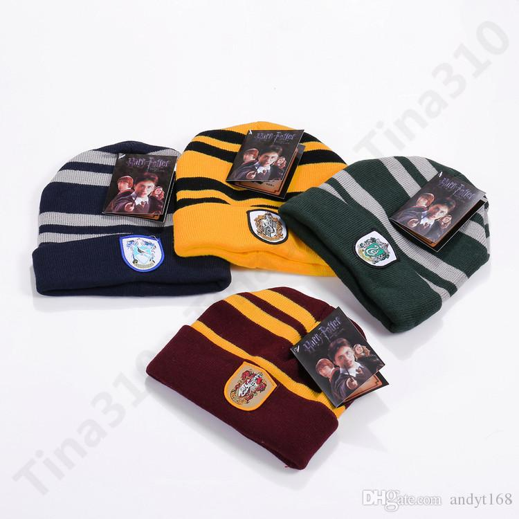 Harry Potter Hat Hogwarts Gryffindor Slytherin Ravenclaw Hufflepuff Badge  Hat Skull Caps Winter Hats Hallowmas Gift T1C376 Slouchy Beanie Crochet  Pattern ... 10fcbb6fc73c